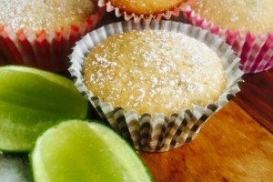 coconut lime and banana cupcakes